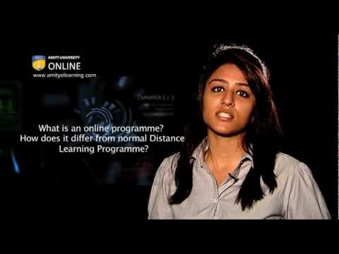 What is an online programme? How does it differ from normal Distance Learning Programme?