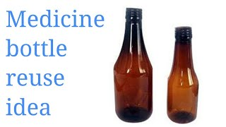 Easy Diy Idea with empty medicine bottle... Rubis Creativity