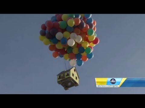 Disney's 'Up' house created in real life and flown for National Geographic show