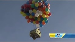 "Disney's ""Up"" house created in real life and flown for National Geographic show"