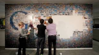 The Google Logo in 884 4x6 Photographs: Construction Time-lapse