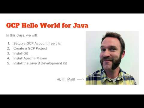 GCP Hello World for Java
