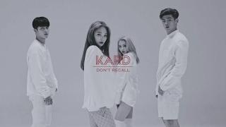 K.A.R.D(카드) 'Don't Recall' MV 공개...중독성 넘쳐 (비엠, 제이셉, 전소민, 전지우)