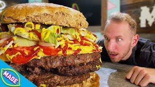 We Made a Giant DIY 40 Pound Cheeseburger!🍔