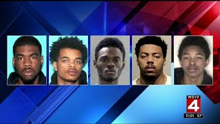 5 men wanted for 25 robberies around Detroit