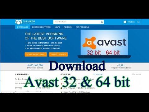 How To Download Avast 32 & 64 Bit On Filehippo.com Fast And Easy