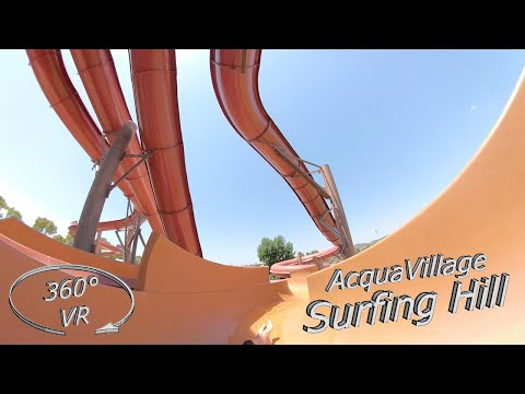 Acqua Village Follonica 2019 Surfing Hill (slide 2) 360° VR Onslide