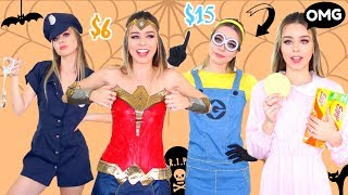 Trying on halloween costumes under 25 from amazon!!