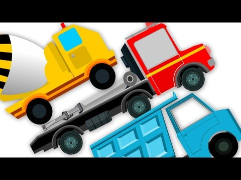 Trucks Song  Nursery Rhymes For Kids Learn Transport truck rhyme tow truck kids tv S02 EP080