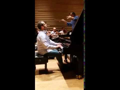 Alberto Nose in Rehearsal with Gerard Schwarz- NYCA Symphony Orchestra