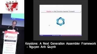 #HITBGSEC 2016 SG Conference Track D1 - A Next Generation Assembler Framework - Nguyen Anh Quynh