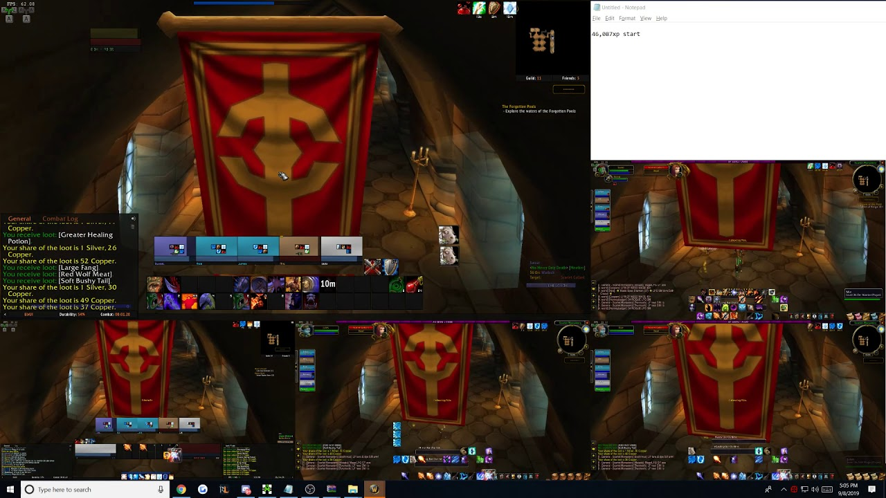 Download WoW Classic - 5 Man Multibox - SM Library - 10 Minute Run (45k XP/hour)