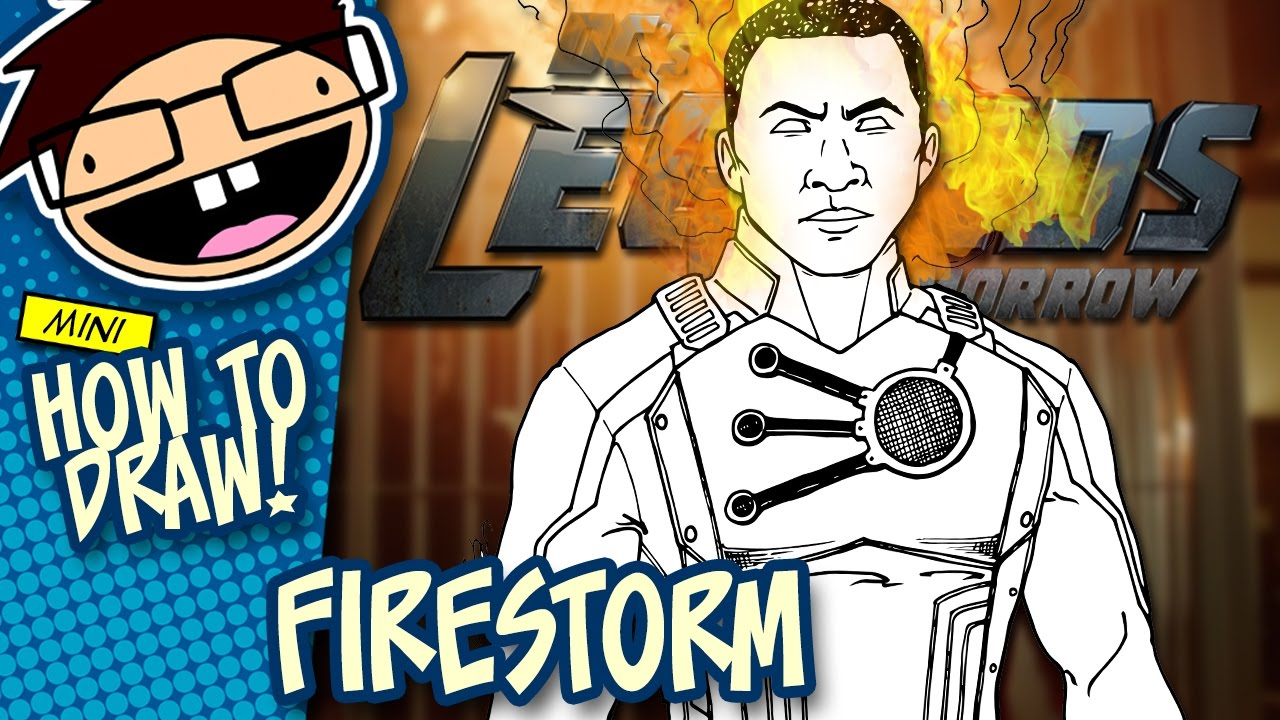 How To Draw Firestorm Legends Of Tomorrow Narrated