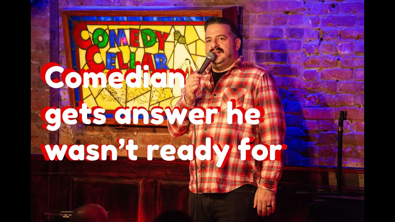 Download Comedian gets an answer he wasn't ready for