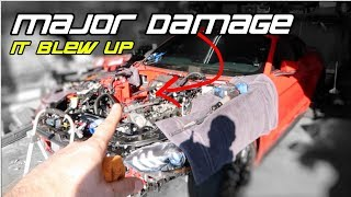 WE BLEW UP MY 2019 TWIN TURBO MUSTANG GT | YOU WONT BELIEVE ALL THE DAMAGE WE FOUND