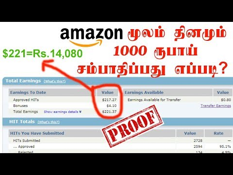 How to Earn Money from Amazon Mturk in Tamil | Free Online Jobs Tamil