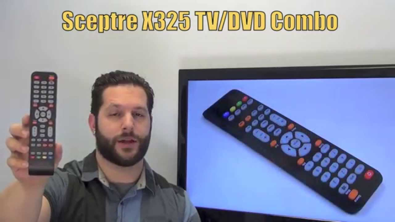 Sceptre X325 Tv Dvd Combo Remote Control Www Replacementremotes Com Youtube
