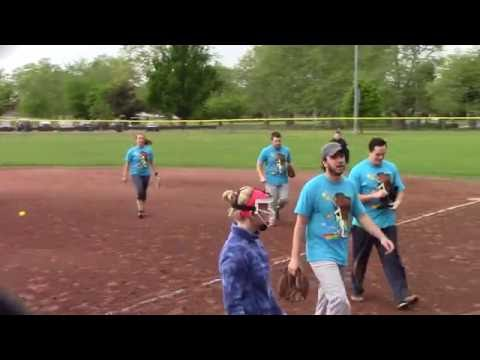 NBC Sports Group vs WWE - Spring Coed Softball League - Video Highlights - May 24, 2016