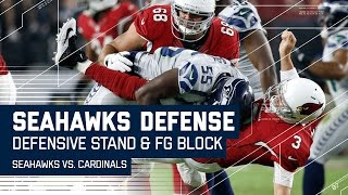 Seahawks Defensive Stand Ends with Leaping FG Block! | Seahawks vs. Cardinals | NFL
