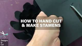 How to Hand Cut and Make Stamens by Designs to Cut