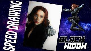 Speed Drawing: Black Widow (Scarlett Johansson)/ Dibujando a La Viuda Negra (The Avengers)