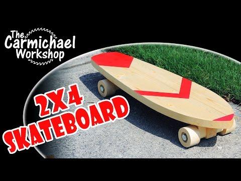 2x4 Wooden Skateboard (Gwinnett Woodworkers Contest Entry)