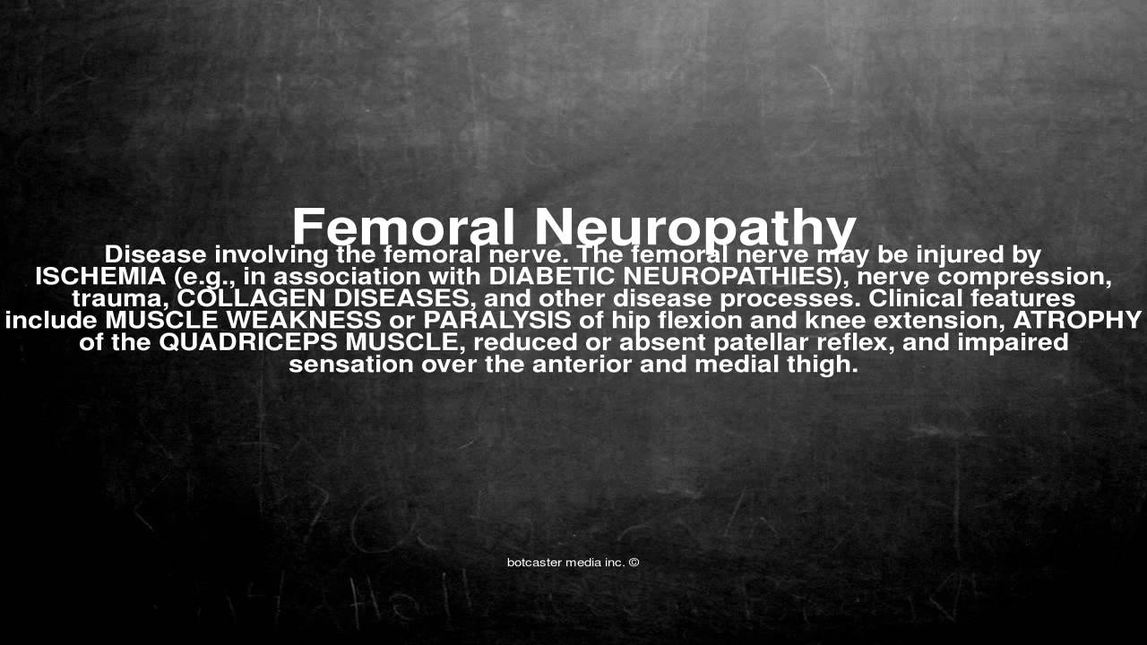 medical vocabulary: what does femoral neuropathy mean - youtube, Skeleton