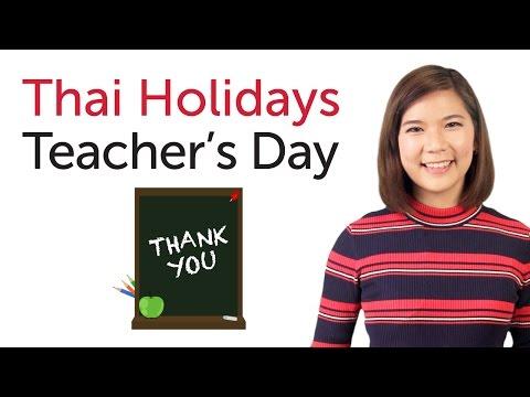 Learn Thai Holidays - Teacher's Day