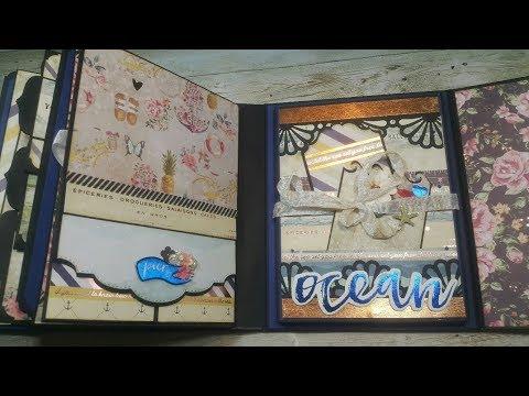 Tutorial #5 St Tropez Scrapbook Mini Album ( Design team project CCC )
