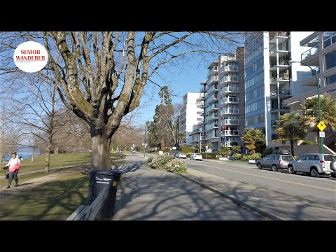 Vancouver Street Walk, EP110 - Denman Street To Stanley Park Along Beach Ave