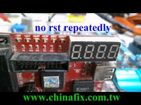 P8H61-M PRO bios corrupted repeatedly reboot -Mainboard repair