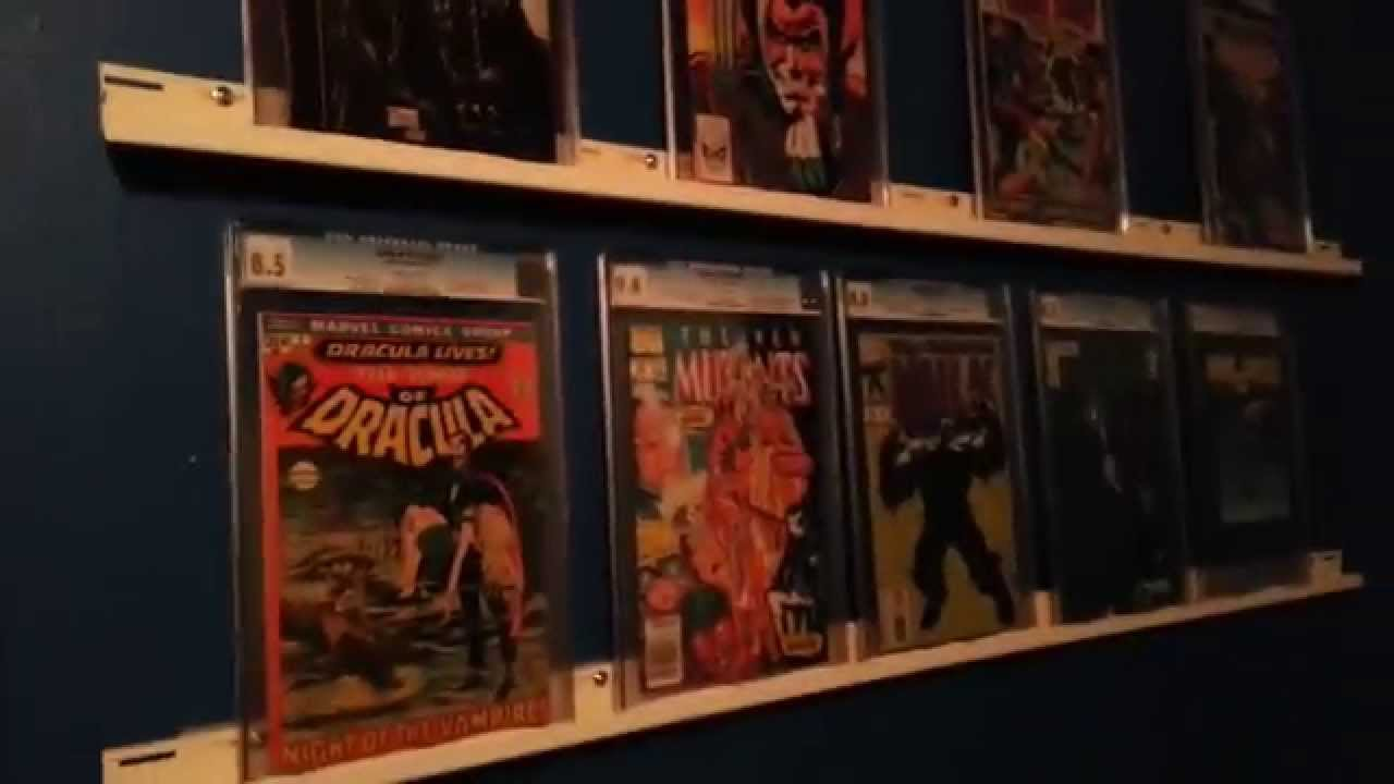 Check out my comic book room youtube for Comic book bedroom ideas