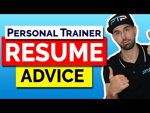 Personal Trainer Resume Advice! Let's Get You That Job!