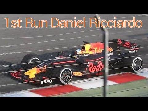 Daniel Ricciardo first run RB13 Red Bull formula 1 Barcelona Wintertest 2017 f1 formula 1 #GOBAS