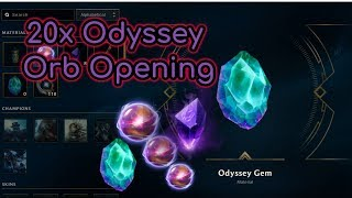 NEW Daily 20x Odyssey Orbs Opening (Day 1) - League of Legends