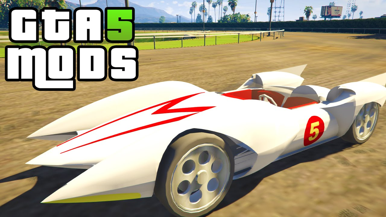gta 5 pc mods - speed racer mach 5 car - youtube