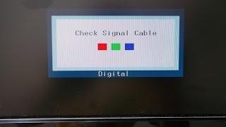 компютер не включается пишет не т сигнала музыке