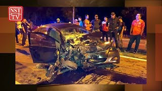 Man killed after driving against traffic flow on busy KK road