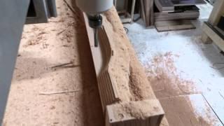 Фрезерование на станке ЧПУ. Мебельная резная ножка