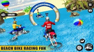 Extreme Fun Beach Water Surfer Dirt Bike Racing Games #Bike Race Games For Android #Games For Kids