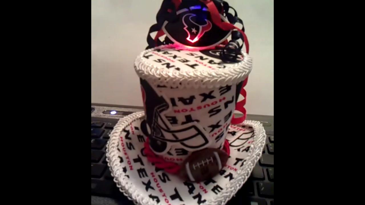 Houston Texans Mini Top Hat With Light Up Logo