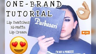 PURBASARI One Brand Tutorial + Lip Swatches Hi-Matte Lip Cream 01-05