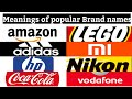 Famous brand names & Their meanings|Rolling sir|1 min tech|#20