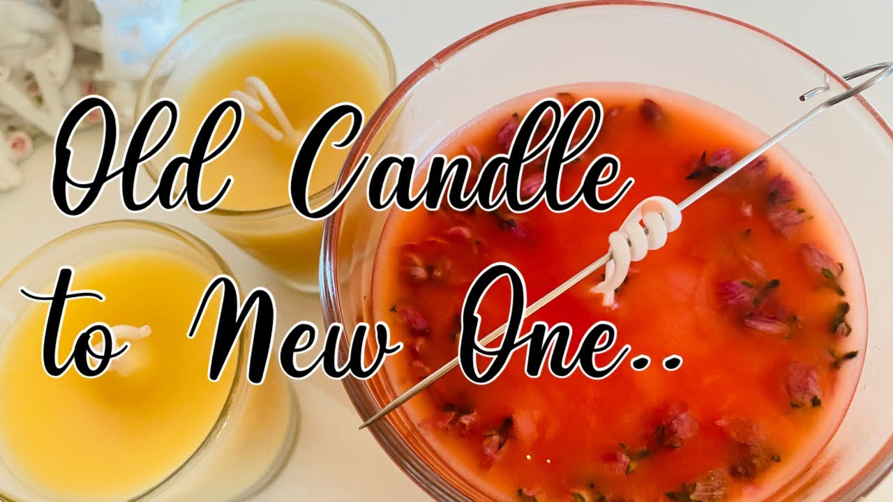 How to Melt Old Candle Wax into New Candles   Easy Way