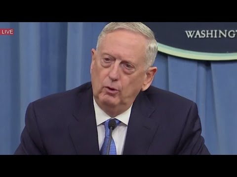 General James Mattis Delivers a THREAT at Defense Briefing at Pentagon on Russia, North Korea, China