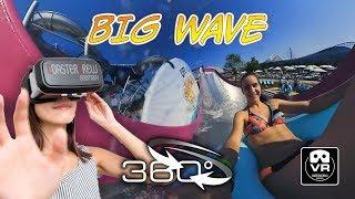 BIG WAVE 360 ° extreme Wasserrutsche water slide VR360 onride POV | Therme Galaxy Erding Oculus GO