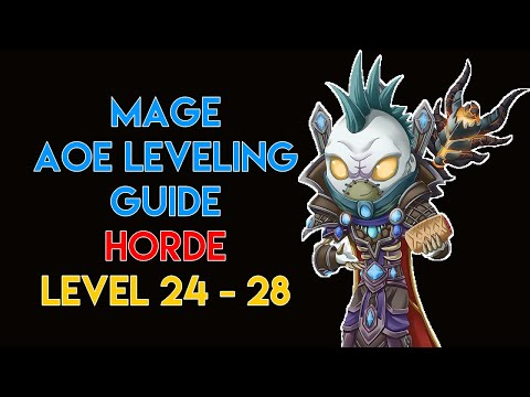 MAGE AOE LEVELING GUIDE 24, 25, 26, 27, 28 (HORDE) | CLASSIC WOW