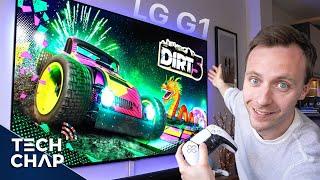 LG G1 OLED Evo 77インチアップグレード-私の新しいゲームテレビ!