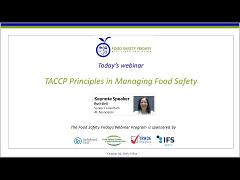 TACCP Principles in Managing Food Safety - International