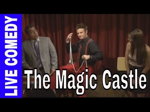Comedy straitjacket and card trick  at The Magic Castle in Hollywood